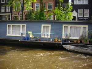 una casa galleggiante, Amsterdam