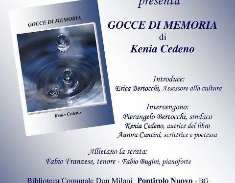GOCCE DI MEMORIA, la nuova raccolta di poesie di Kenia Cedeno