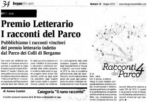 I Racconti del Parco 2012, articolo de Bergamosostenibile