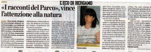 I Racconti del Parco 4, articolo de L'Eco di Bergamo
