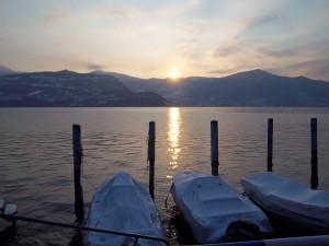 Crepuscolo sul lago d'Iseo