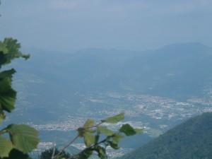 La Valle Seriana vista dalla vetta della Cornagera, Aviatico