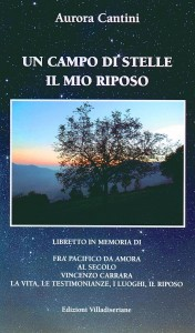 Copertina libretto in memoria di Fra Pacifico da Amora Questuante (1883-1937)