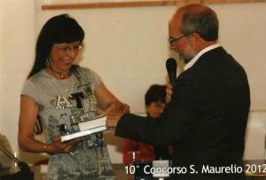 Aurora Cantini: il ricevimento della Medaglia del Presidente della Repubblica X concorso San Maurelio 2012