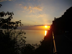 luce sull'acqua a Trieste