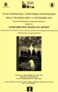 """Biblioteca Tiraboschi locandina romanzo """"Come briciole sparse sul mondo"""" di Aurora Cantini"""