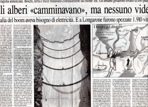 L' Eco di Bergamo 10 ottobre 2003 articolo 2 per l'Anniversario del Vajont