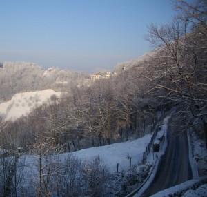 Inverno sulle strade di Aviatico