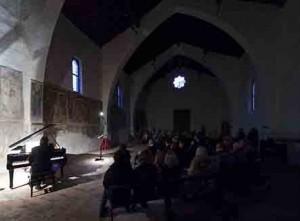 Interno della Chiesa San Bartolomeo Albino, Poesia e Musica 2012
