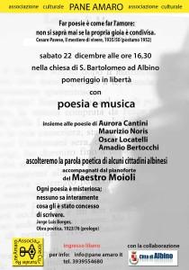 Associazione Culturale Pane Amaro, Città di Albino, poesia e musica 2012