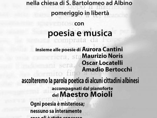 Poesia con musica ad Albino
