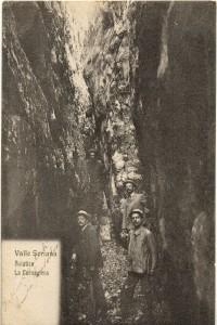 Buco della Carolina, cartolina d'epoca di Giuseppe Pino Bertocchi