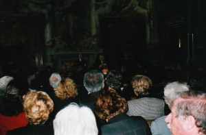 Andreotti nella Sala Paolina in Castel Sant'Angelo alla Premiazione del concorso CAPIT, 2004