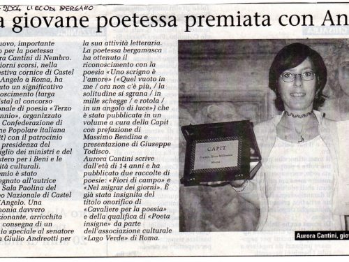 """""""I poeti del Terzo Millennio"""", quel giorno in Castel Sant'Angelo premiata con Andreotti"""