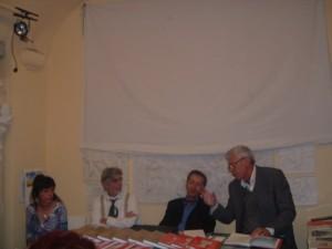 La lettrice Aurora Cantini, Pierantonio Volpini, Umberto Zanetti, Sergio Pagliaroli