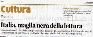 Italia maglia nera della lettura