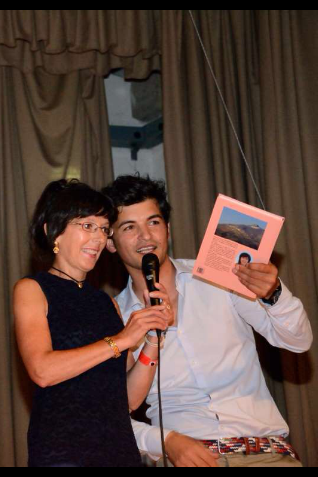 Aurora Cantini con l'organizzatore dell'evento, Paolo Carrara -Selvino-