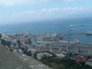Dall'alto della Rocca di Gibilterra