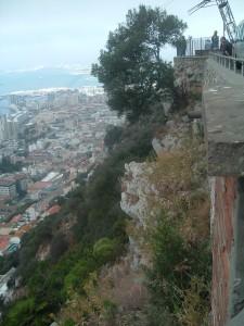 L'impervio dirupo Rocca di Gibilterra