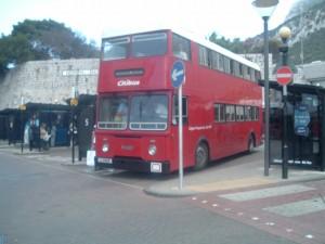 Il tipico autobus inglese a due piani, Gibilterra
