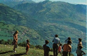 Ganda, panorama verso il fiume Serio, 1970