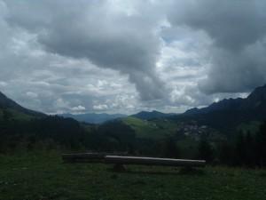 Il panorama dalla Cattedrale Vegetale