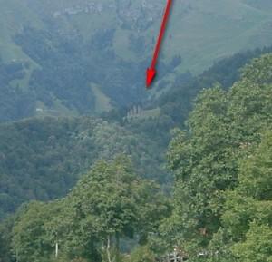 Particolare La Cattedrale verde dalla strada verso il Passo di Zambla Alta