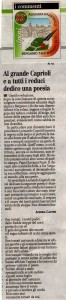 Adunata Alpini Bergamo, poesia per Leonardo Caprioli