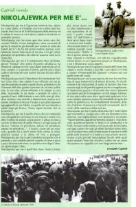 "La pagina dedicata a Leonardo Caprioli su ""L'Alpino"""