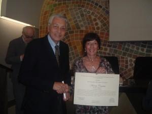 Aurora Cantini con il Presidente del Centro Studi Valle Imagna, professor Giorgio Locatelli