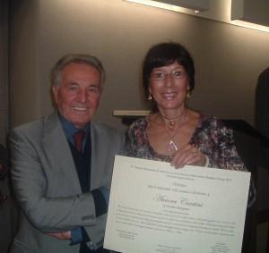 Aurora Cantini con il Segretario del V Premio Iannucci Mazzoleni, Aloisio Mazzoleni