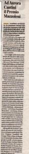 L'Eco di Bergamo e Aurora Cantini