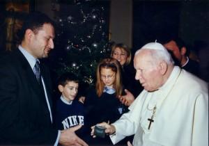 Luigi Oldani e Papa Wojtyla