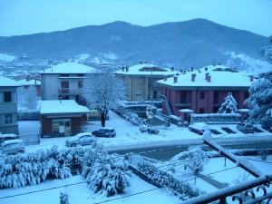Nevicata in città