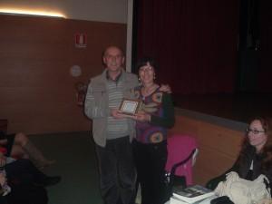 Aurora Cantini con il viceSindaco di Terno d'Isola