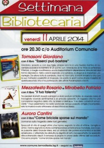 "Locandina ""Settimana bibliotecaria"" a Terno d'Isola"