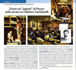 Articolo Il Nembro per come è andata Serata Tenore Gambarelli