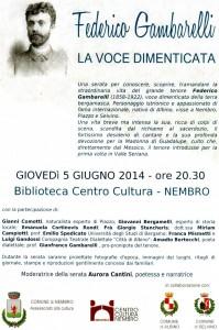 Tenore Federico Gambarelli, locandina 1