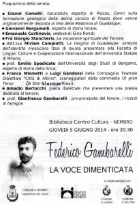 Tenore Federico Gambarelli locandina 2, interno