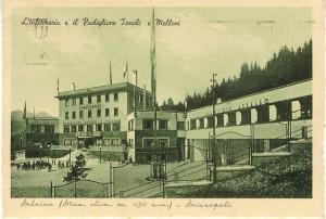 Cartolina d'epoca di Giuseppe Pino Bertocchi: la Sciesopoli