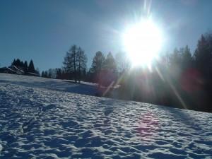 Tramonto a Songavazzo in inverno