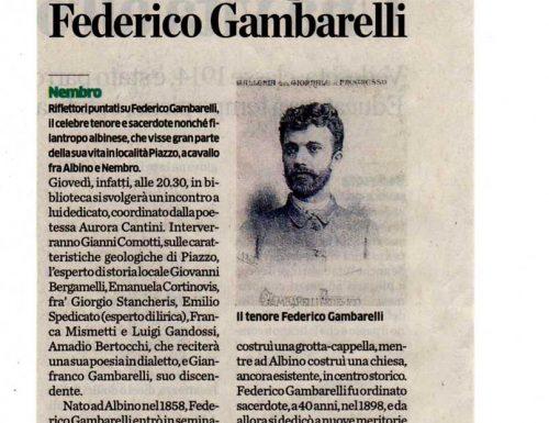 A Nembro una serata per il Tenore Monsignor Federico Gambarelli, voce dimenticata della terra bergamasca