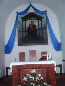 La Madonna delle Nevi nella chiesa del Rifugio