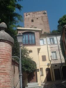 La Rocca Malatestiana vista dal basso