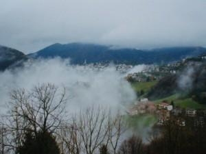 Nebbia velo da sposa sull'Altopiano Selvino Aviatico