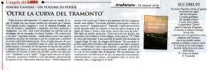 """Araberara Periodico e """"Oltre la curva del tramonto"""" poesie"""