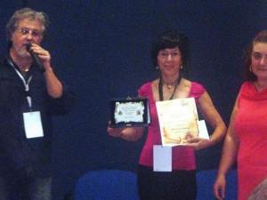 Aurora Cantini con Gino Marchitelli, Presidente dell'Associazione Culturale il Picchio