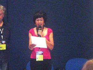 La lettura della poesia premiata (Aurora Cantini)