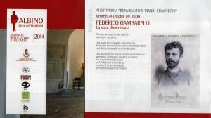 Giornate della Storia e dell'Arte 2014, Albino e il Tenore Mons Federico Gambarelli