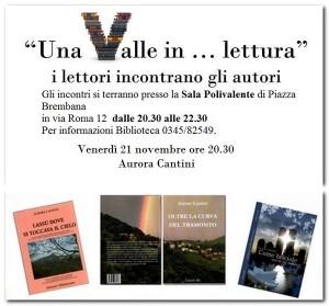 Una Valle in lettura 2014 e i libri di Aurora Cantini